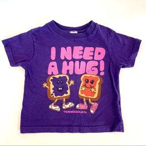4/$25 Little Goliath Peanut Butter & Jelly Shirt